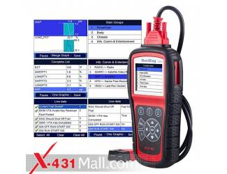 Launch MaxiDiag MD805 All Systems OBD2 Scanner for Engine,Transmission,ABS,Airbag,EPB,Steering Wheel,SAS,BMS,Oil Service Reset